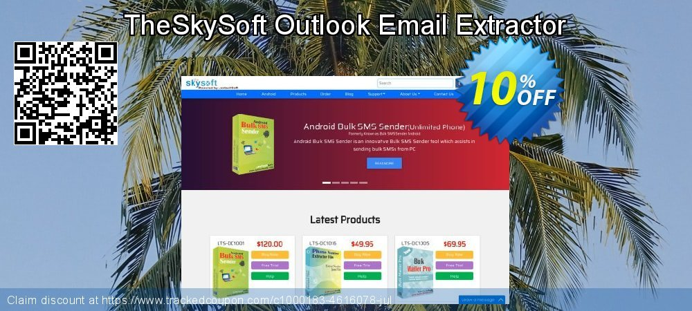 TheSkySoft Outlook Email Extractor coupon on Mom Day discount