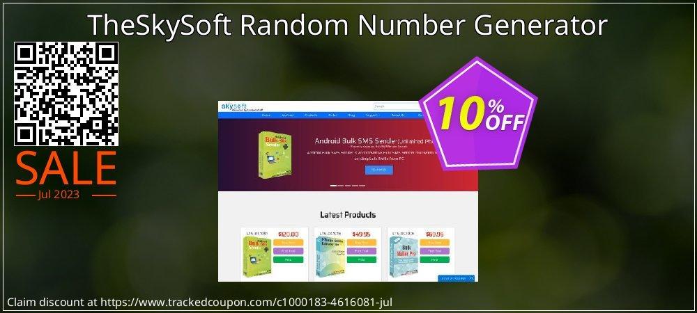 Get 10% OFF TheSkySoft Random Number Generator offer