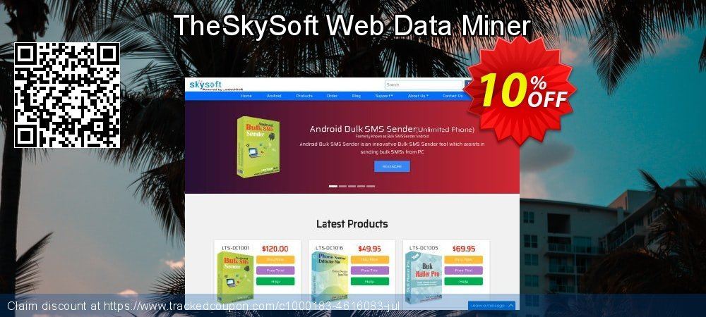 TheSkySoft Web Data Miner coupon on Mothers Day promotions
