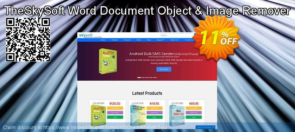 TheSkySoft Word Document Object & Image Remover coupon on Mom Day offering sales
