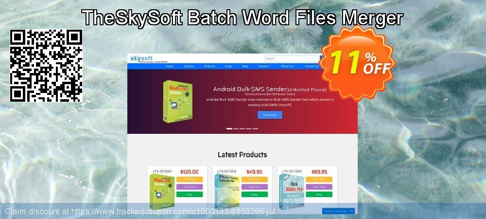 TheSkySoft Batch Word Files Merger coupon on Mom Day discount