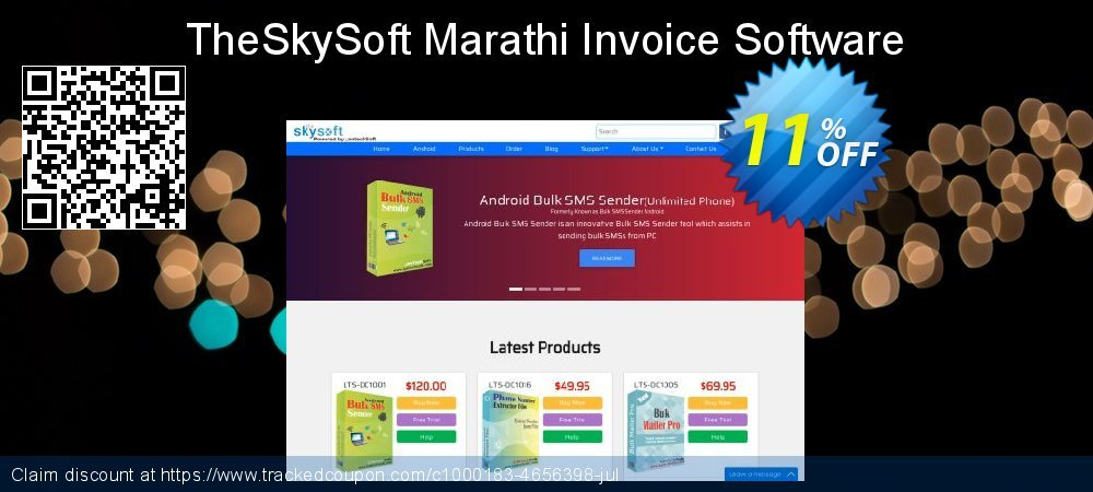 TheSkySoft Marathi Invoice Software coupon on Mom Day discount