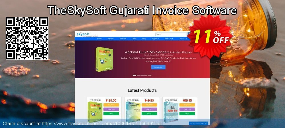 TheSkySoft Gujarati Invoice Software coupon on Mom Day discounts