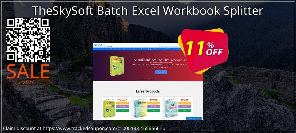 Get 10% OFF TheSkySoft Batch Excel Workbook Splitter sales