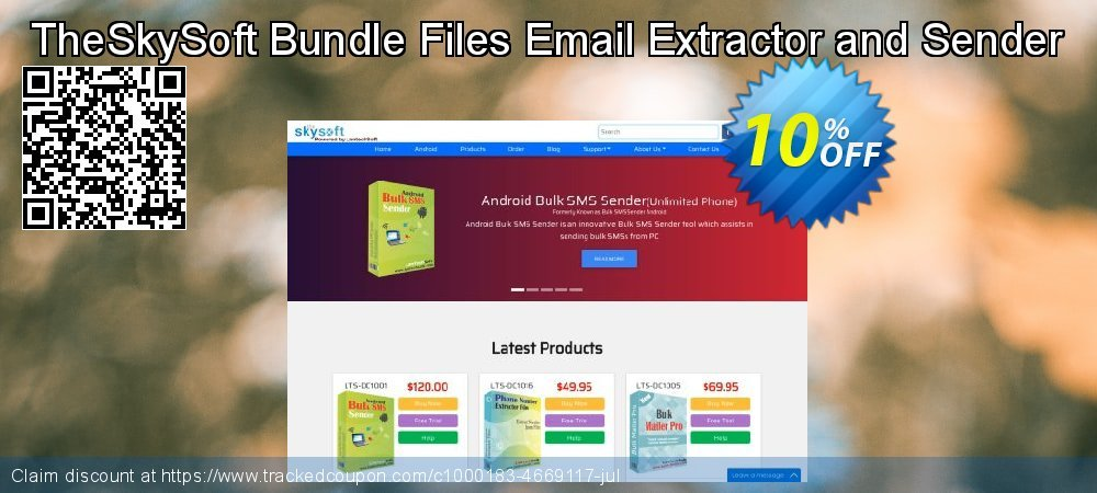 Get 10% OFF TheSkySoft Bundle Files Email Extractor and Sender offering sales