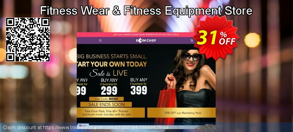 Get 31% OFF Fitness Wear & Fitness Equipment Store offering sales