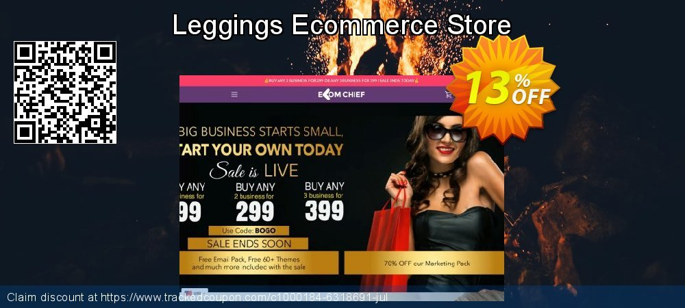 Leggings Ecommerce Store coupon on Super bowl sales
