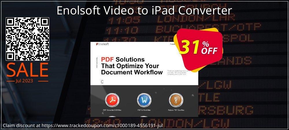 Get 30% OFF Enolsoft Video to iPad Converter offering sales
