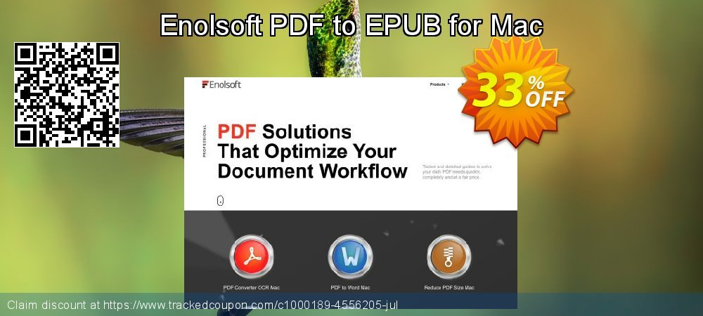 Enolsoft PDF to EPUB for Mac coupon on Mothers Day offering discount