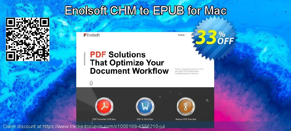 Enolsoft CHM to EPUB for Mac coupon on Mom Day sales