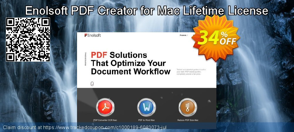 Enolsoft PDF Creator for Mac Lifetime License coupon on World Bicycle Day offering sales