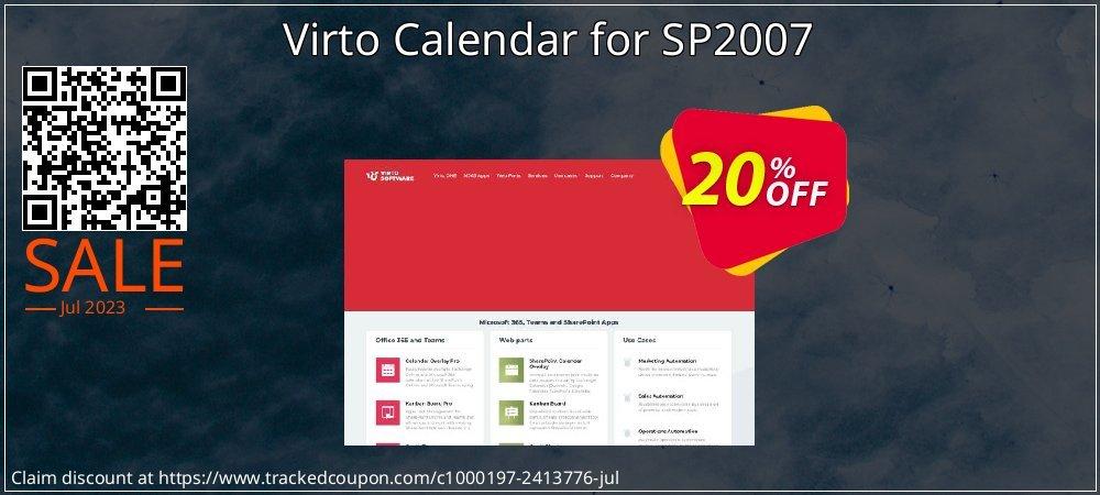 Get 20% OFF Virto Calendar for SP2007 offering sales