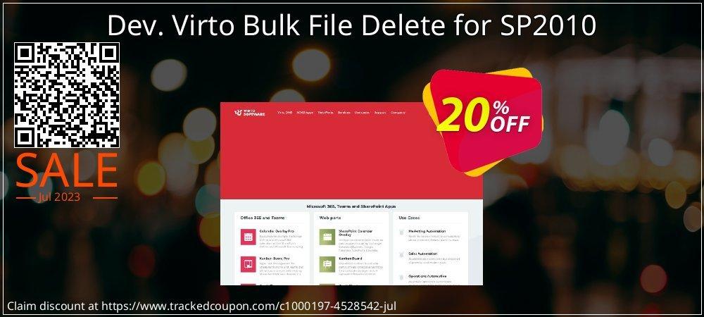 Dev. Virto Bulk File Delete for SP2010 coupon on Happy New Year offer