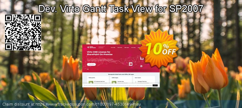 Get 10% OFF Dev. Virto Gantt Task View for SP2007 offering sales