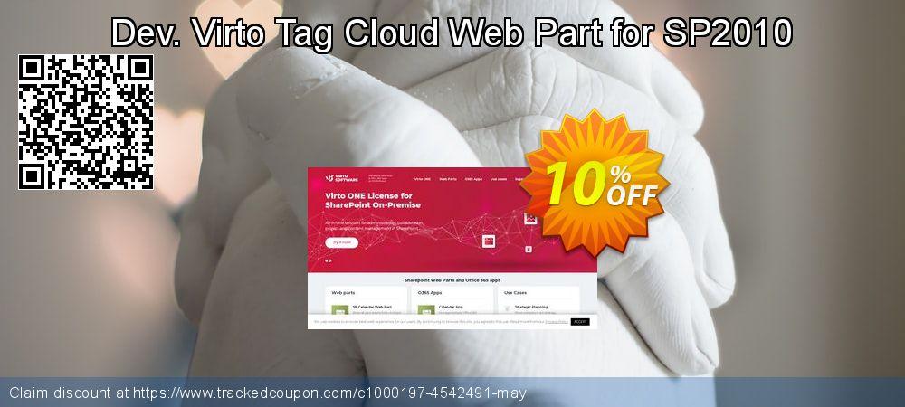 Get 10% OFF Dev. Virto Tag Cloud Web Part for SP2010 sales