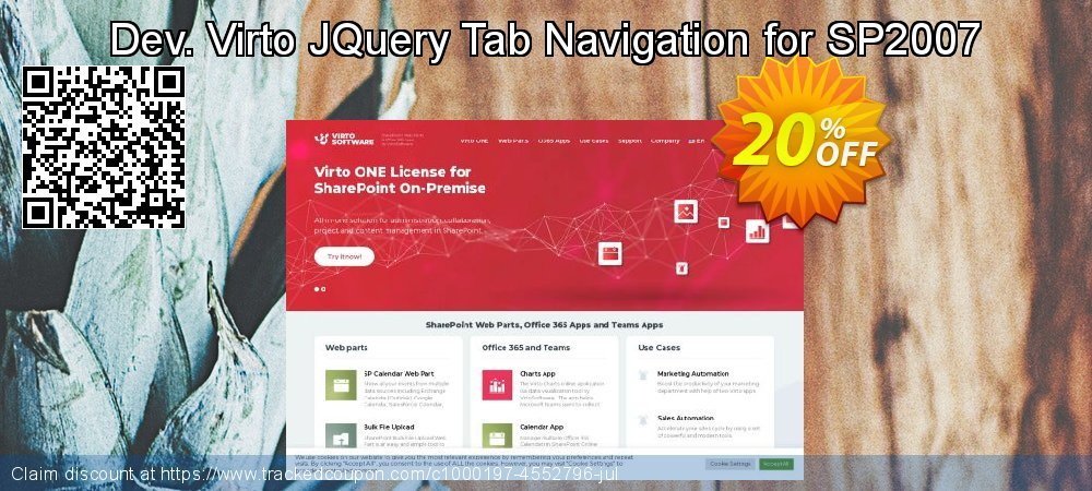 Dev. Virto JQuery Tab Navigation for SP2007 coupon on New Year deals