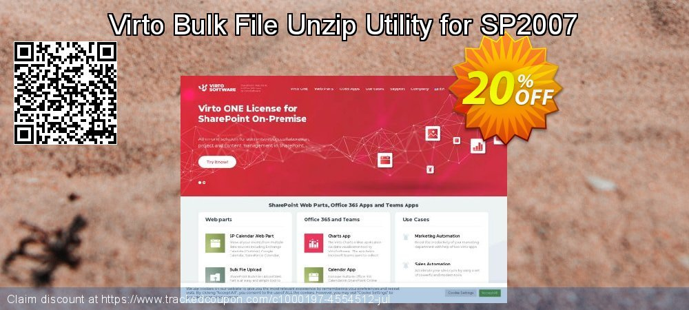Get 10% OFF Virto Bulk File Unzip Utility for SP2007 offering sales