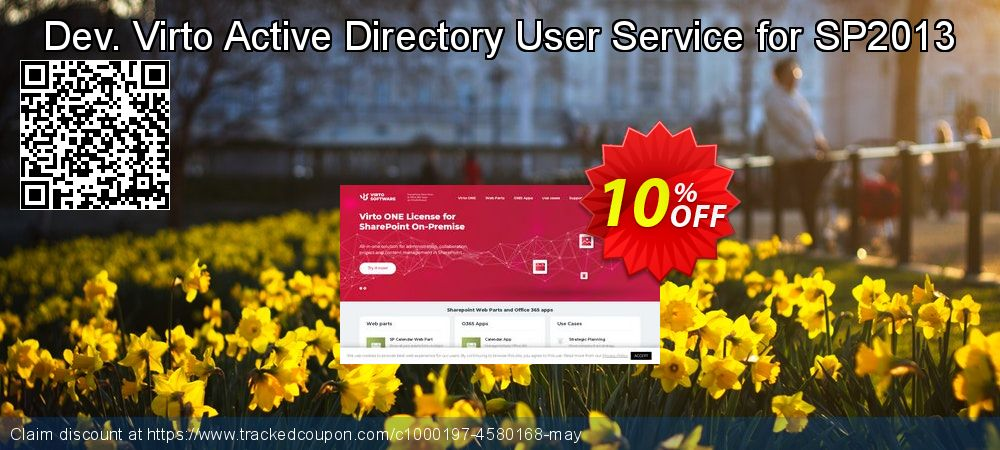 Get 10% OFF Dev. Virto Active Directory User Service for SP2013 discount