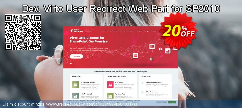 Dev. Virto User Redirect Web Part for SP2010 coupon on Lunar New Year offer