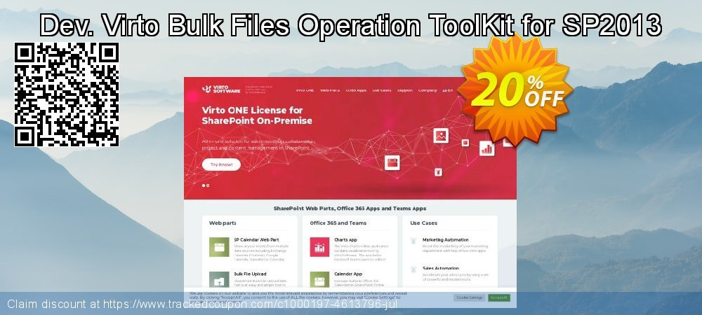Dev. Virto Bulk Files Operation ToolKit for SP2013 coupon on New Year promotions