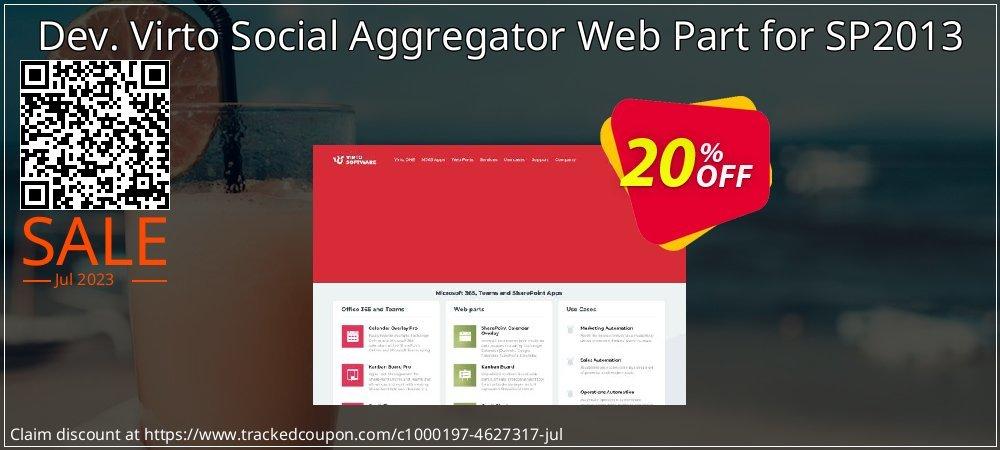 Dev. Virto Social Aggregator Web Part for SP2013 coupon on Black Friday discount