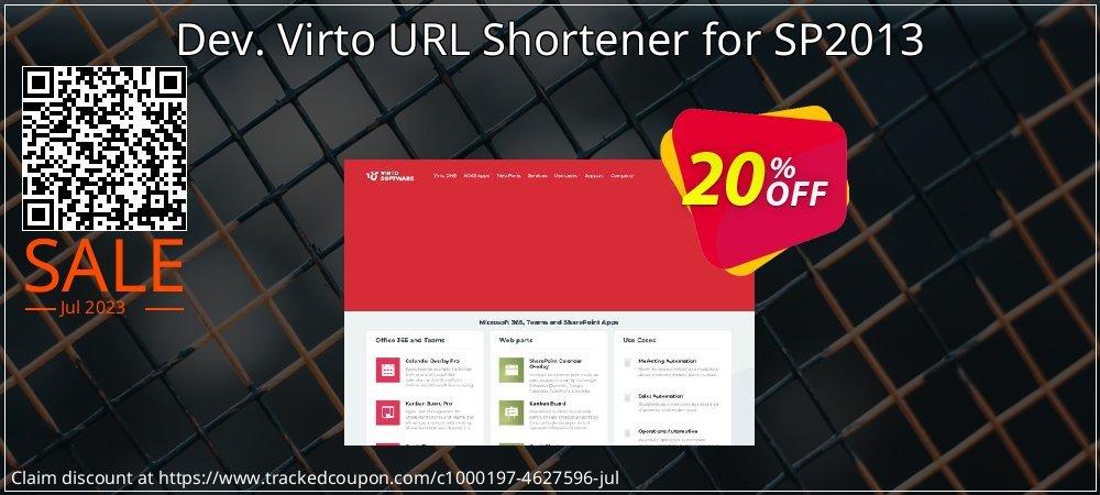 Dev. Virto URL Shortener for SP2013 coupon on New Year offer