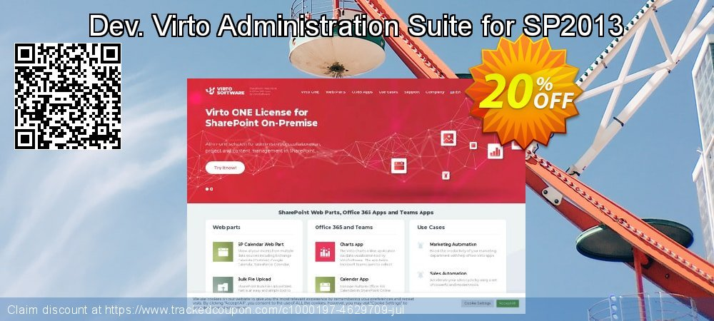 Dev. Virto Administration Suite for SP2013 coupon on New Year's Day sales