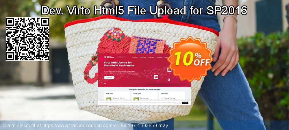Dev. Virto Html5 File Upload for SP2016 coupon on Back to School coupons offering sales