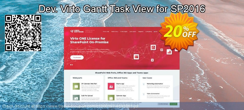 Dev. Virto Gantt Task View for SP2016 coupon on New Year's Day sales