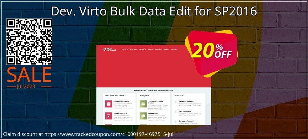 Dev. Virto Bulk Data Edit for SP2016 coupon on Lunar New Year sales