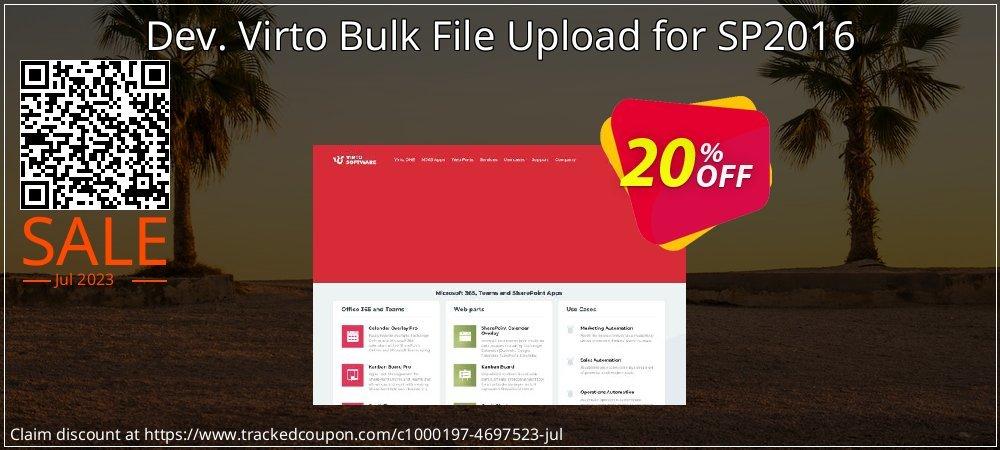Dev. Virto Bulk File Upload for SP2016 coupon on Lunar New Year promotions