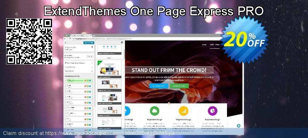 ExtendThemes One Page Express PRO coupon on Valentine Week offering sales