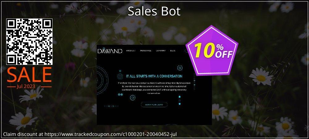 Get 10% OFF Sales Bot offering sales