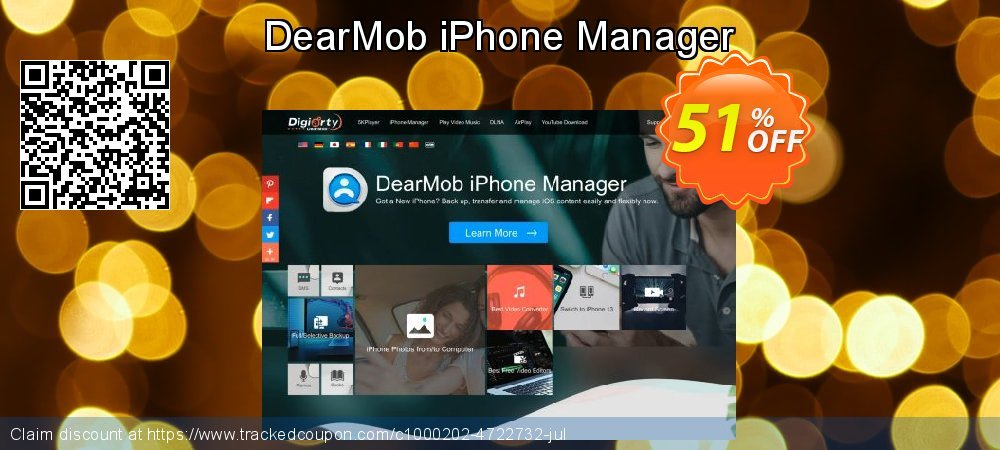 DearMob iPhone Manager coupon on Back to School offer discount