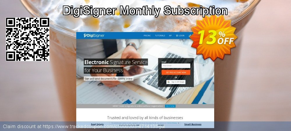 DigiSigner Monthly Subscription coupon on Mothers Day discounts