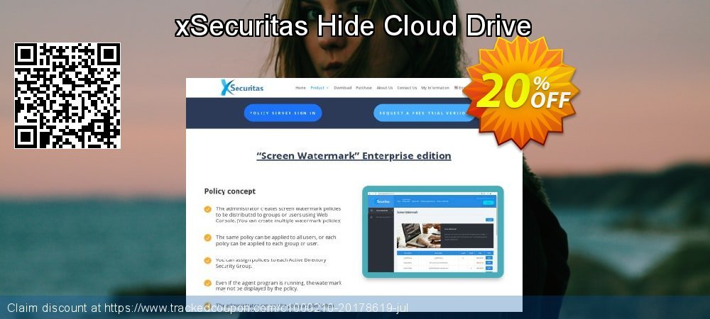 Get 20% OFF xSecuritas Hide Cloud Drive offering sales