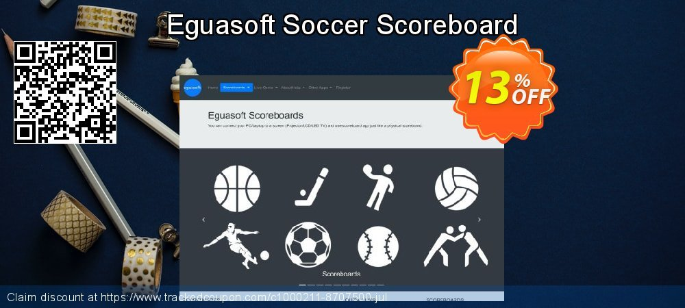Eguasoft Soccer Scoreboard coupon on New Year offering discount