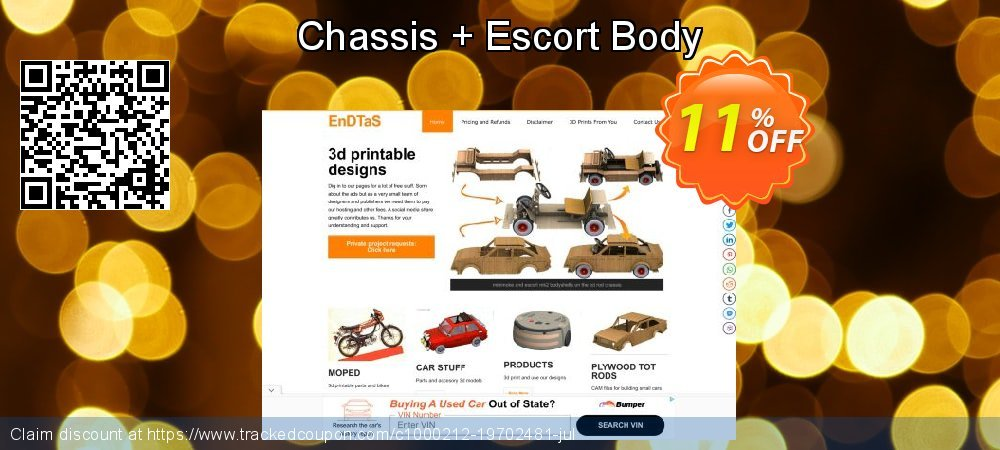 Get 10% OFF Chassis + Escort Body offering sales