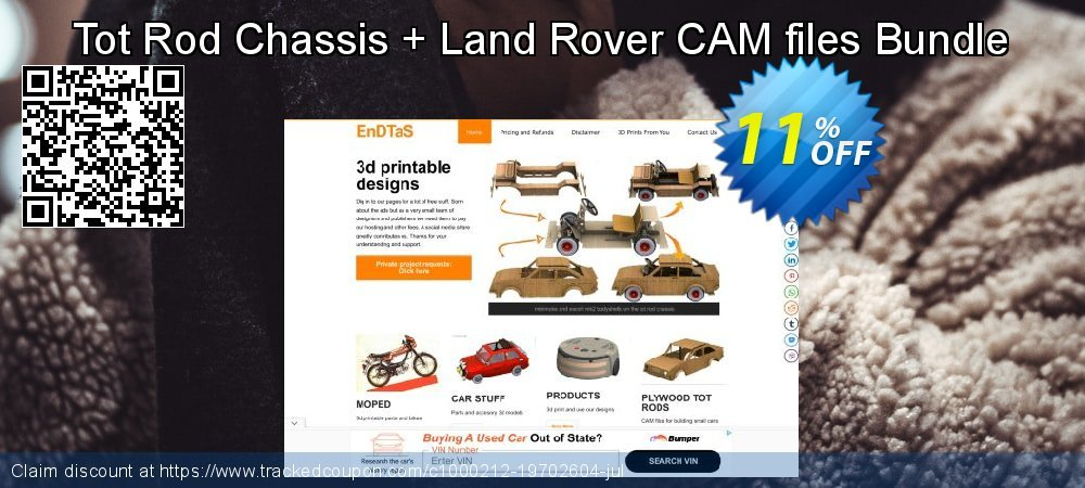 Tot Rod Chassis + Land Rover CAM files Bundle coupon on Back to School deals super sale