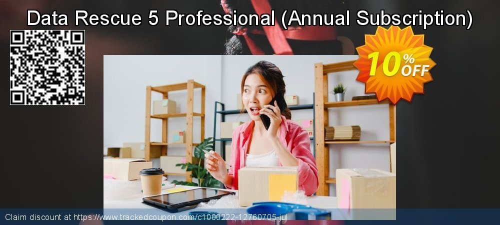 Get 10% OFF Data Rescue 5 Professional (Annual Subscription) offering sales
