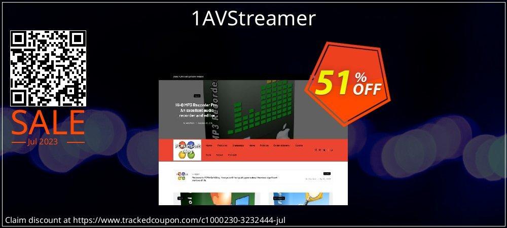 Get 50% OFF 1AVStreamer offering discount