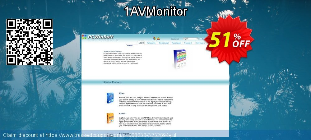 1AVMonitor coupon on Valentine's Day deals