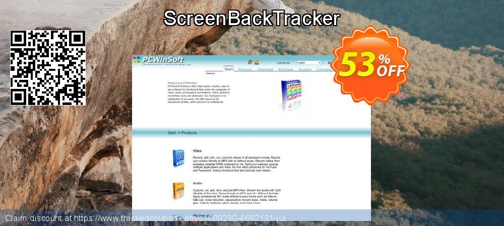 ScreenBackTracker coupon on  Lover's Day offer
