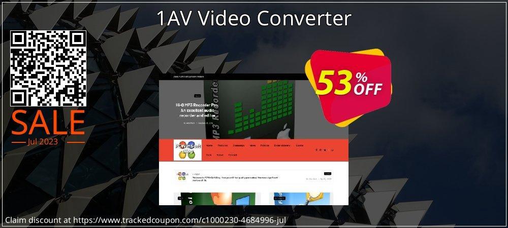 1AV Video Converter coupon on New Year super sale