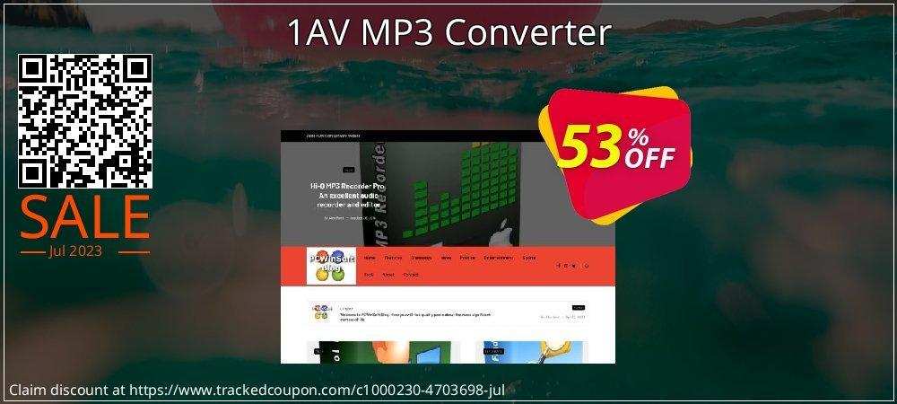 Get 50% OFF 1AV MP3 Converter offering sales