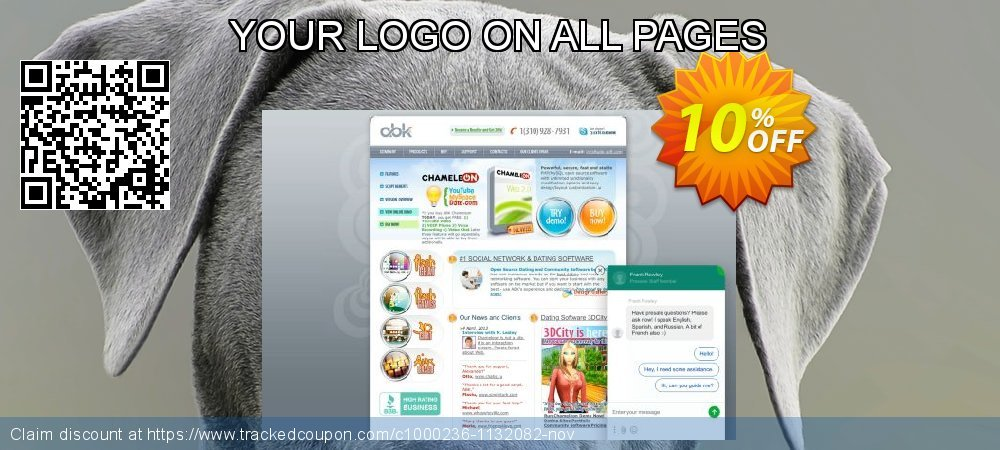 Get 10% OFF YOUR LOGO ON ALL PAGES offering sales
