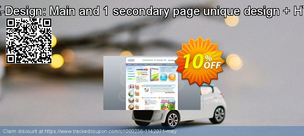 Get 10% OFF ABK-Design: Main and 1 secondary page unique design + HTML offering deals