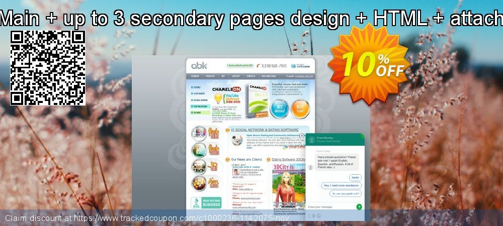 ABK-Design: Main + up to 3 secondary pages design + HTML + attaching to the site coupon on Back to School season discount