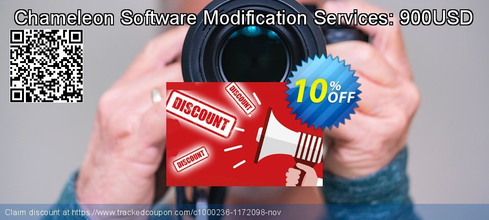 Get 10% OFF Chameleon Software Modification Services: 900USD offering sales