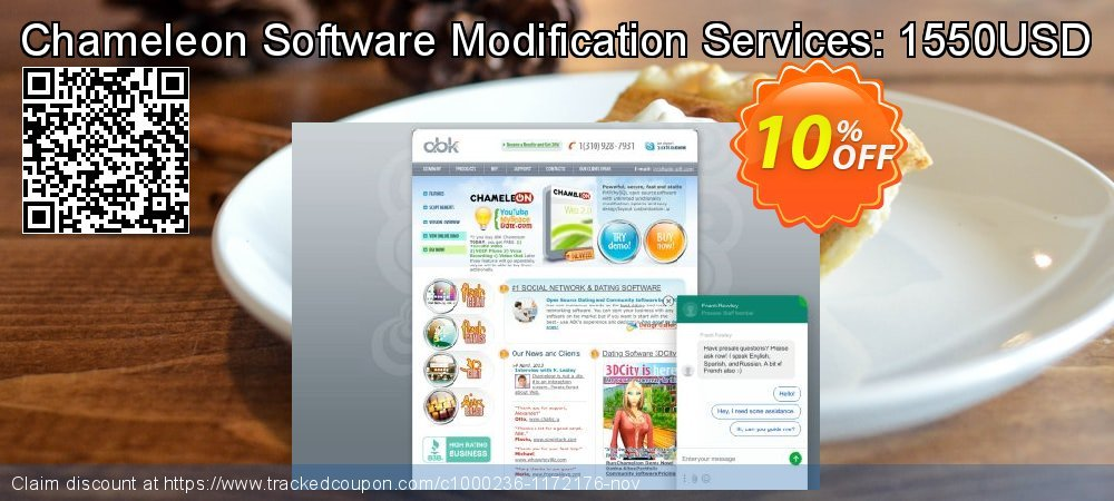 Get 10% OFF Chameleon Software Modification Services: 1550USD offering sales